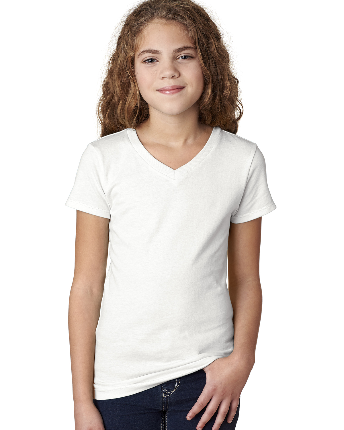 Next Level Apparel 3740 - Girls' Adorable V-Neck Tee