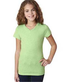 Next Level Apparel 3742 - Girls' Adorable CVC V-Neck ...