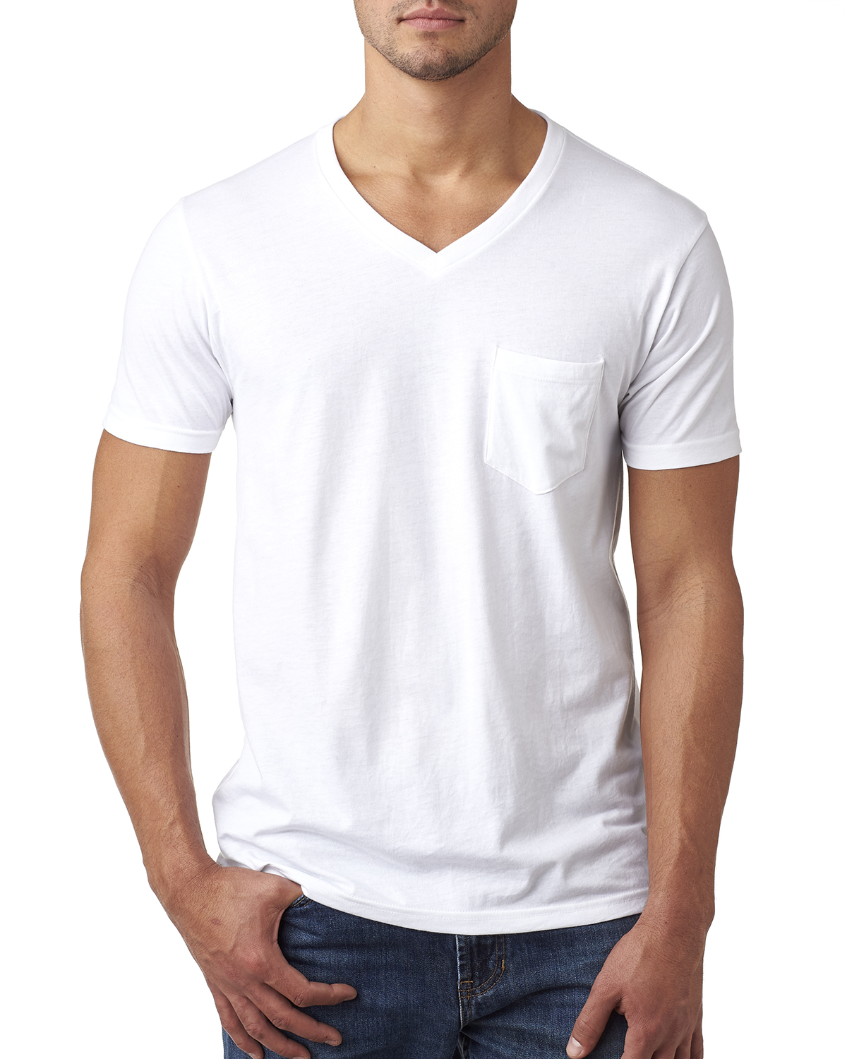 Next Level Apparel 6245 - Men's CVC Tee with Pocket