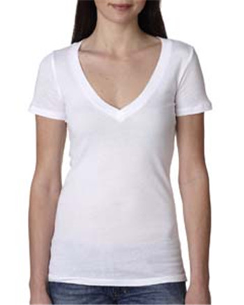 Next Level Apparel N3540 - Ladies' Deep V-Neck Tee