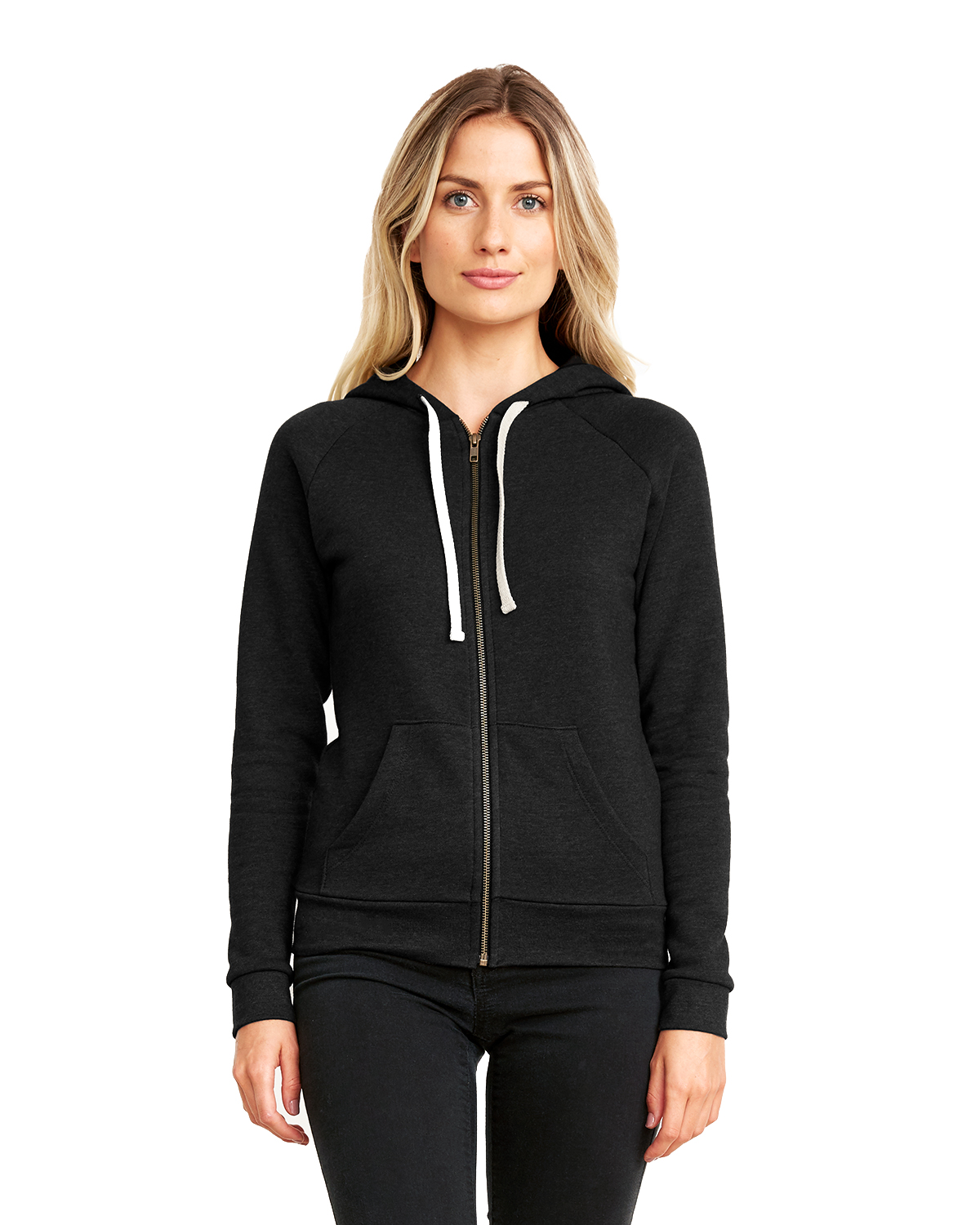 Next Level Apparel 9603 - Ladies PCH Raglan Zip Hoody