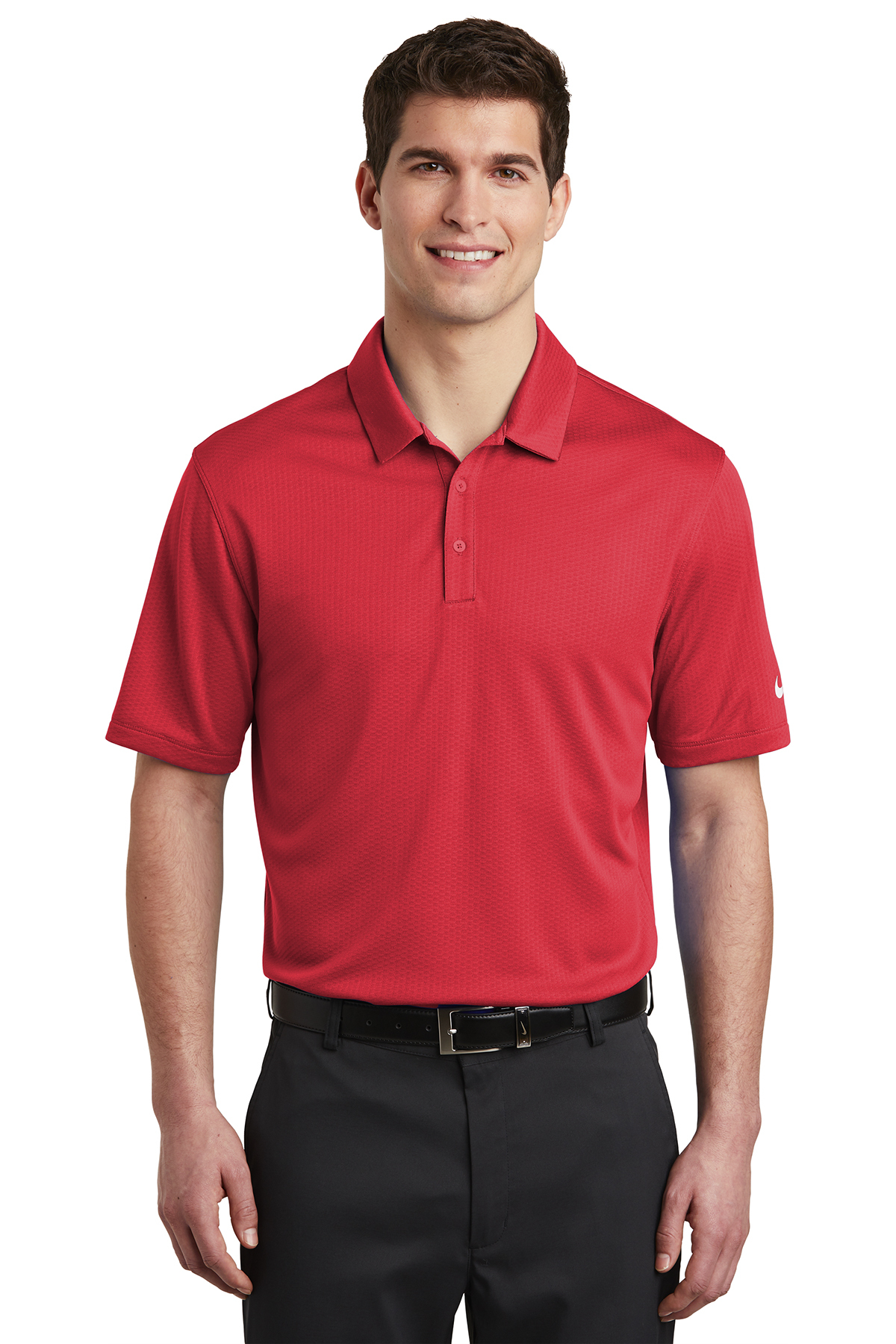 Nike Golf NKAH6266 - Men's Dri-FIT Hex Textured Polo