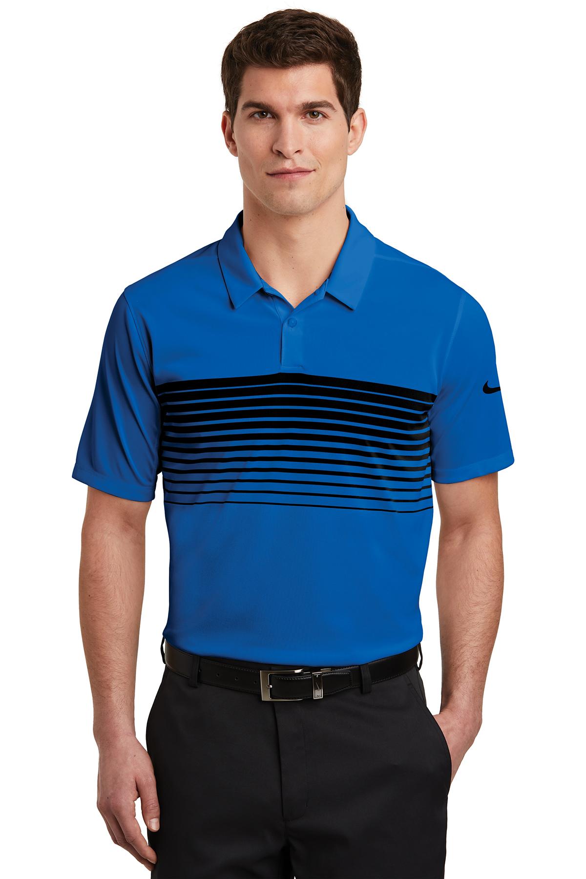 Nike Golf NKAA1855 - Nike Dri-FIT Chest Stripe Polo