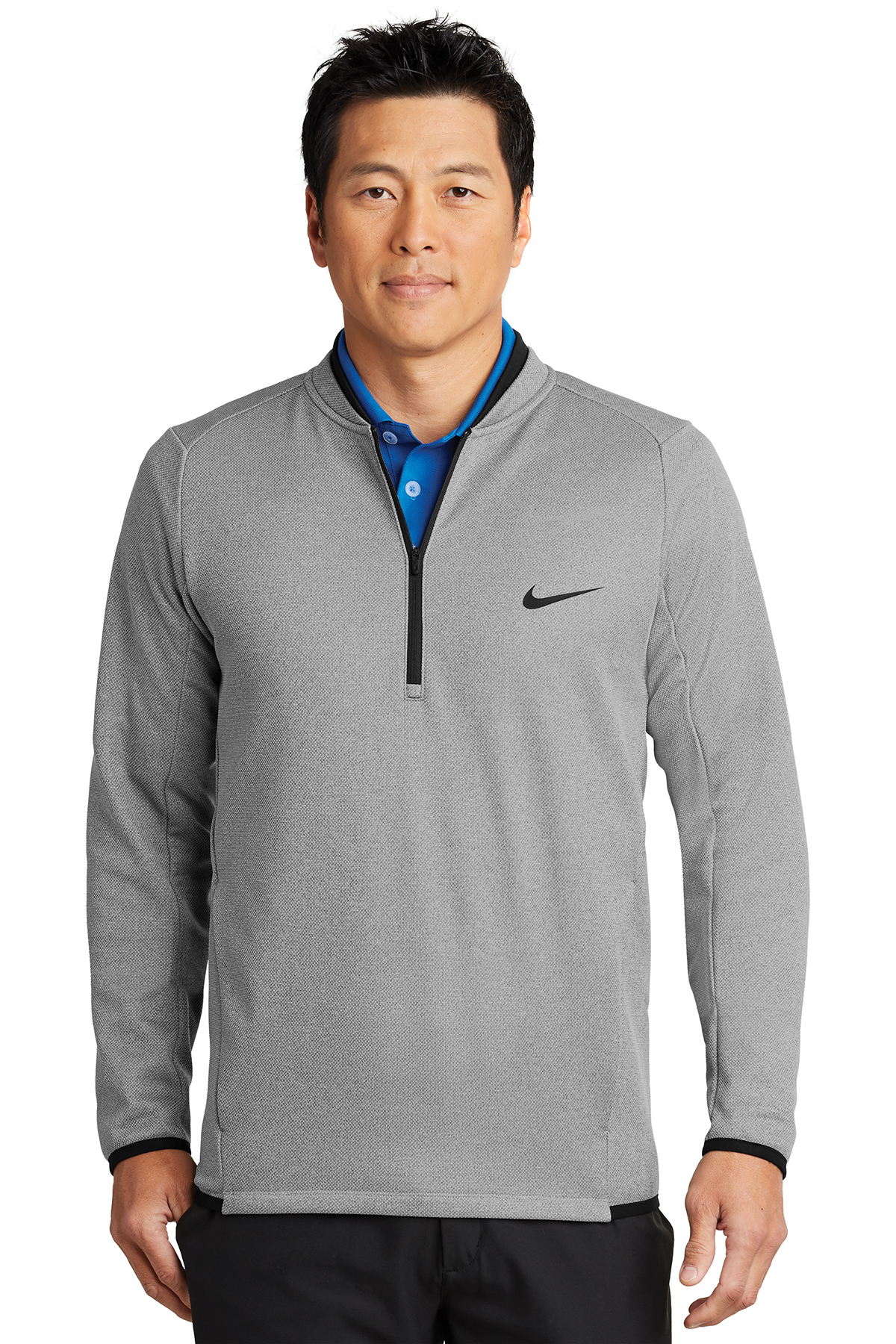 Nike Golf NKAH6267 - Nike Therma-FIT Textured Fleece 1/2-Zip