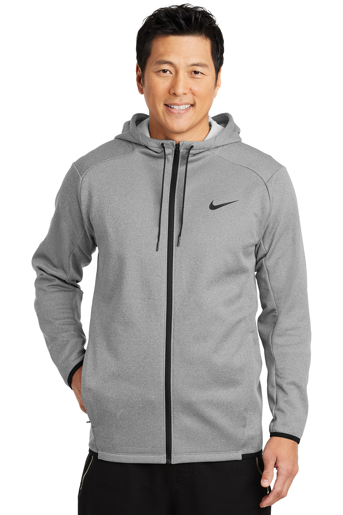 Nike Golf NKAH6268 - Nike Therma-FIT Textured Fleece Full-Zip Hoodie