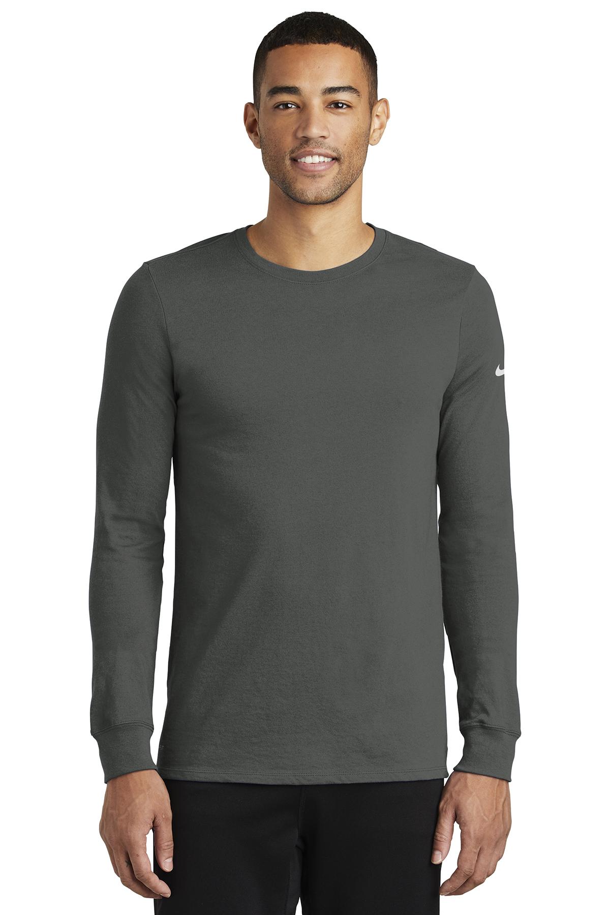 Nike Golf NKBQ5230 - Dri-FIT Cotton/Poly Long Sleeve ...