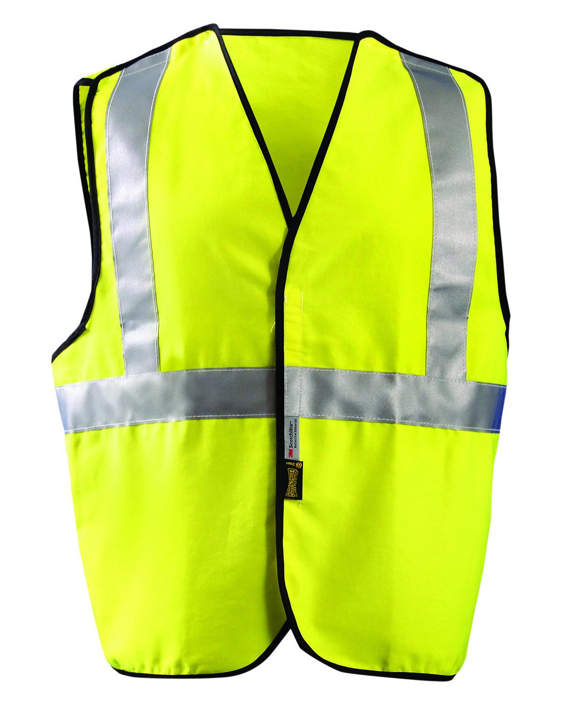 OccuNomix LUXSSCB - Men's Classic Flame Resistant Cotton Dual Stripe Solid HRC 1 Vest