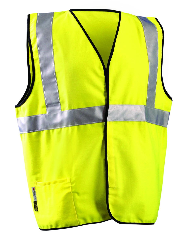 OccuNomix LUXSSCG - Men's Flame Resistant Cotton Blend Stripe Solid HRC 1 Vest