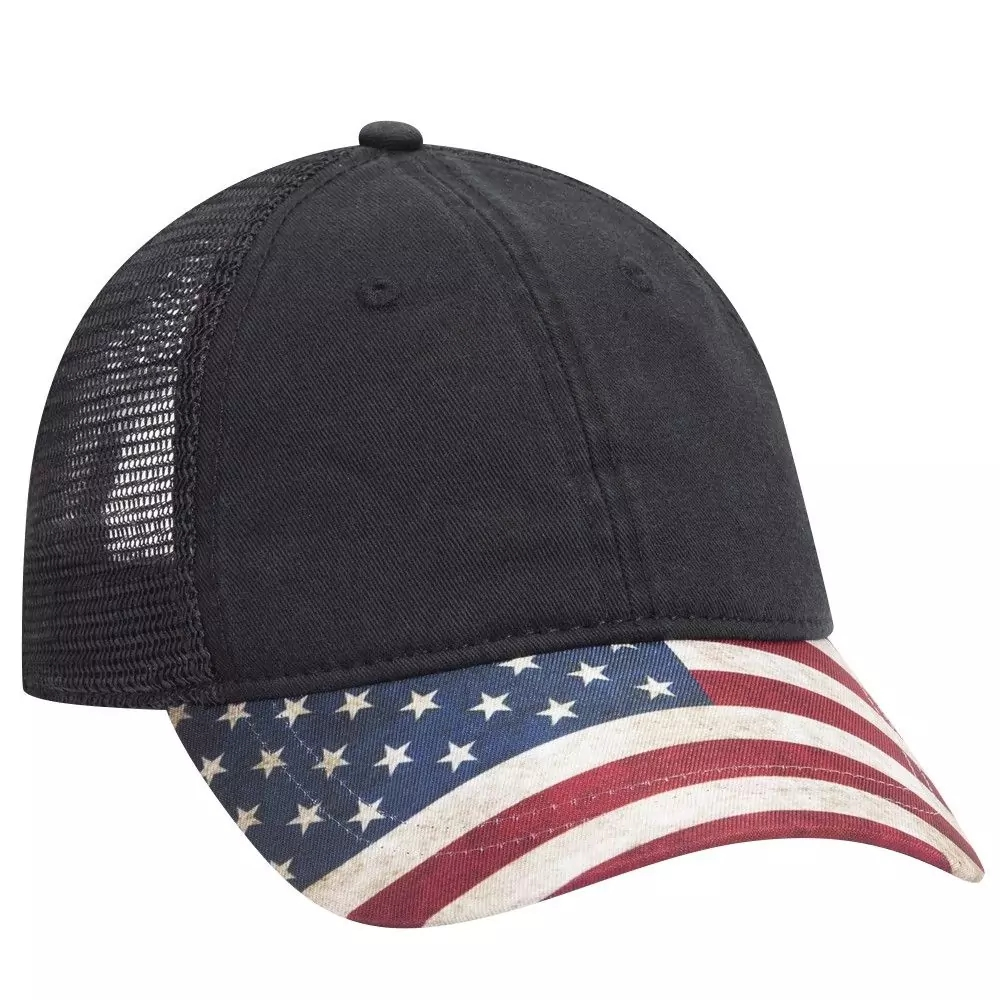 OTTO Cap 121-1281 - 6-Panel Trucker Hat with US Flag ...