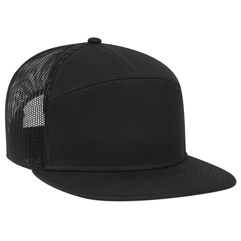OTTO Cap 172-1298 - Superior Cotton Twill 7 Panel Mesh Back Trucker Snapback Hat
