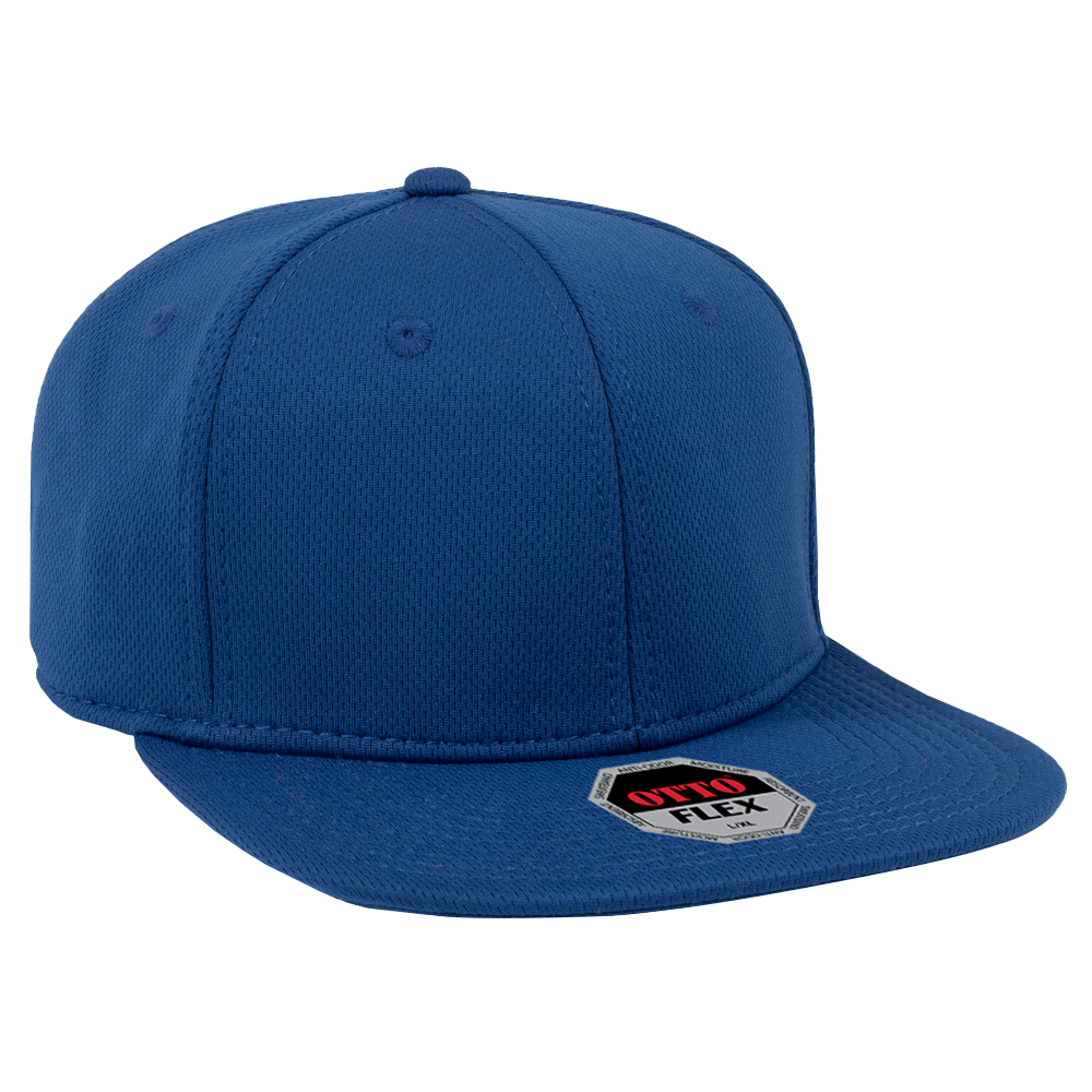 OTTO FLEX 13-1206 - COOL COMFORT STRETCHABLE POLYESTER COOL MESH SQUARE FLAT VISOR PRO STYLE CAPS
