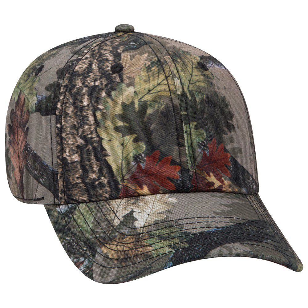 Ottocap 103-1263 - Camouflage Polyester Canvas Low Profile Cap