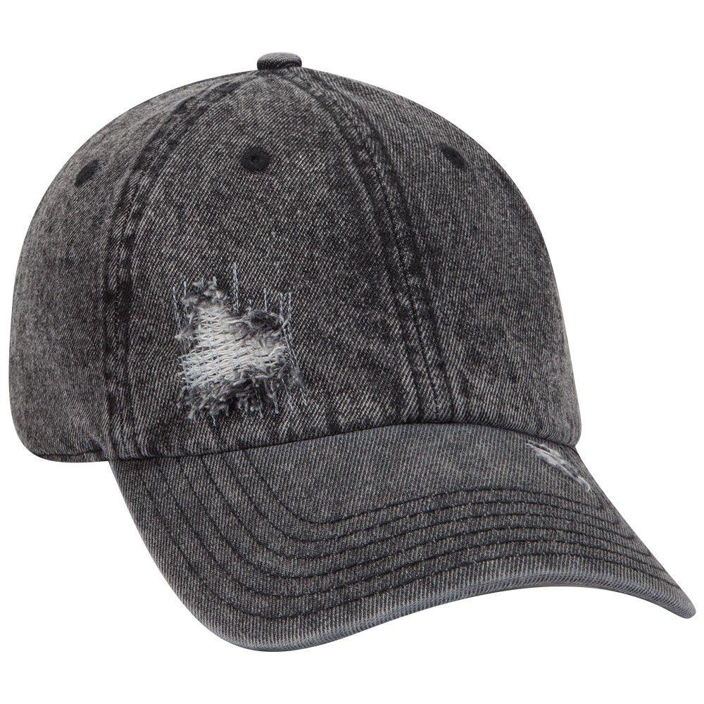 Ottocap 104-1250 - Low Profile Distressed Snow Washed Denim Cap