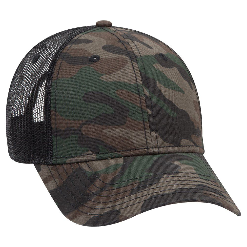 Ottocap 105-1247 - Camouflage Low Profile Style Cotton Twill Mesh back Cap
