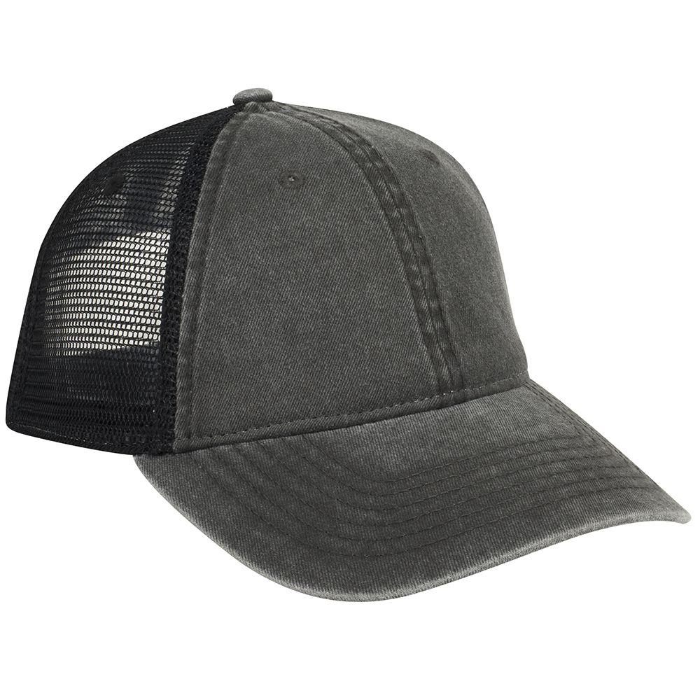 Ottocap 121-1202 - 6-Panel Garment Washed Pigment Dyed Mesh Back Cap