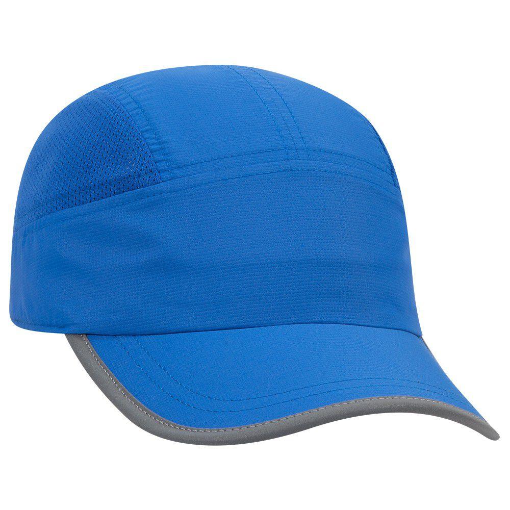 Ottocap 133-1244 - 5 Panel Polyester Pongee Running Cap