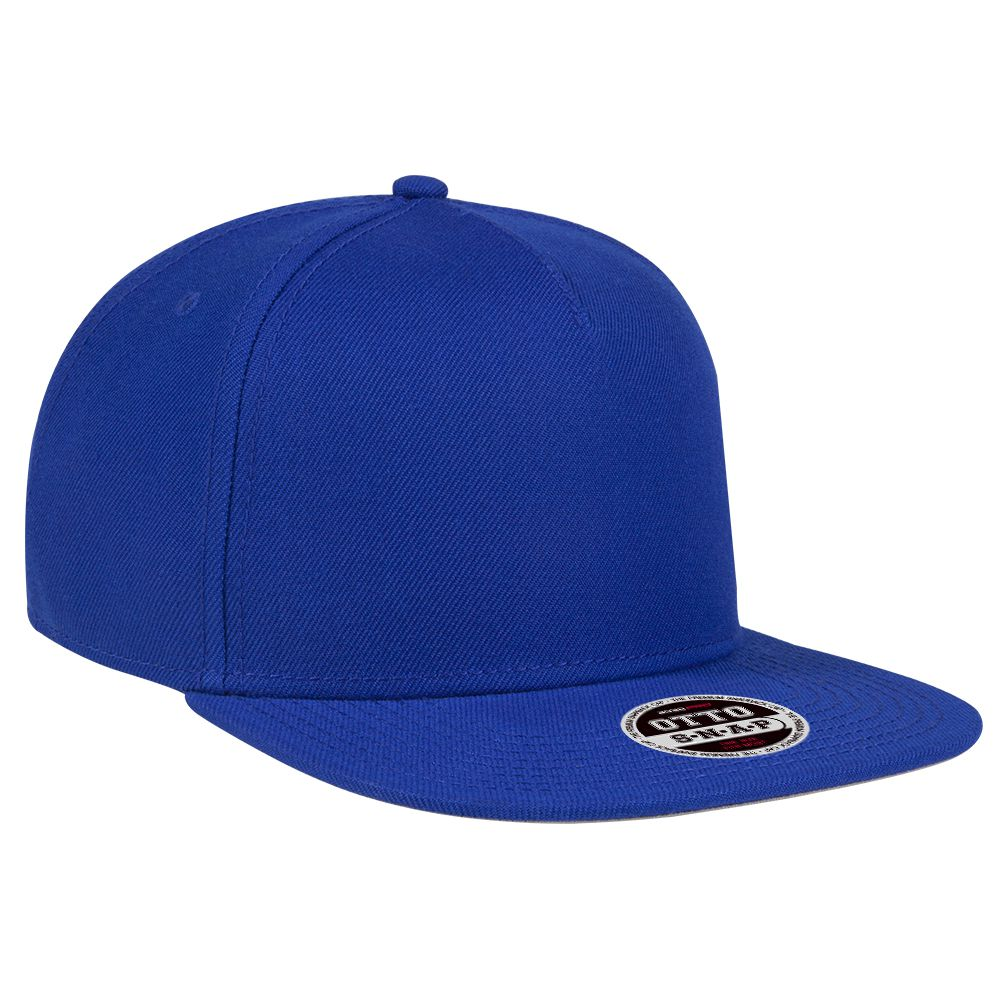 "Ottocap 158-1176 WOOL BLEND TWILL SQUARE FLAT VISOR ""OTTO SNAP"" FIVE PANEL PRO STYLE SNAPBACK HAT"