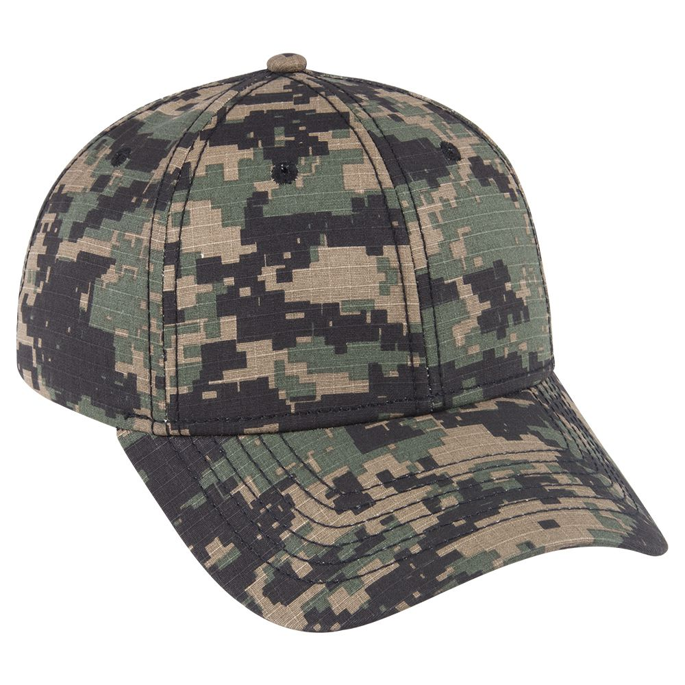 Ottocap 78-1177 DIGITAL CAMOUFLAGE COTTON RIPSTOP SIX ...