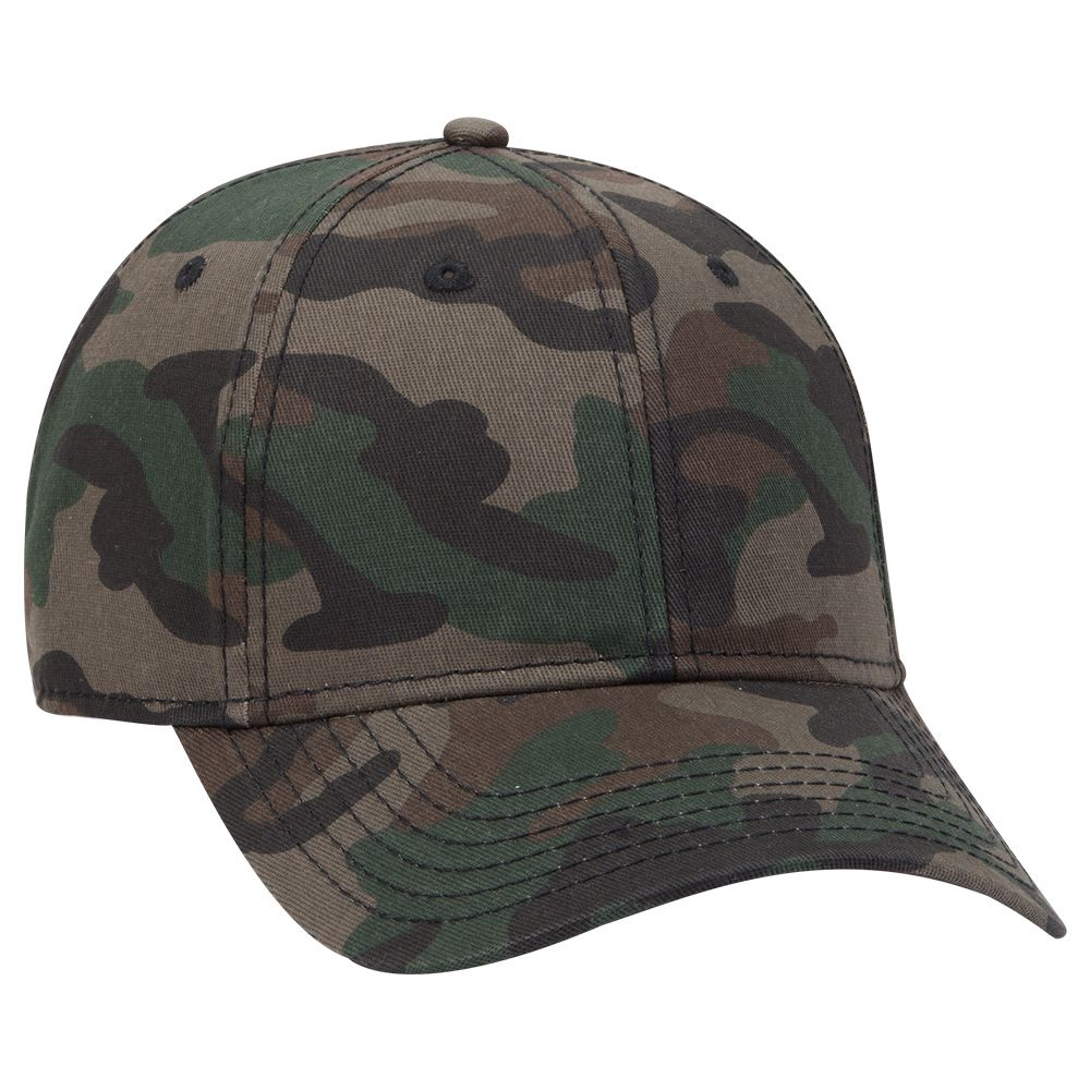 Ottocap 78-1246 - 6 Panel Camouflage Cotton Twill Cap