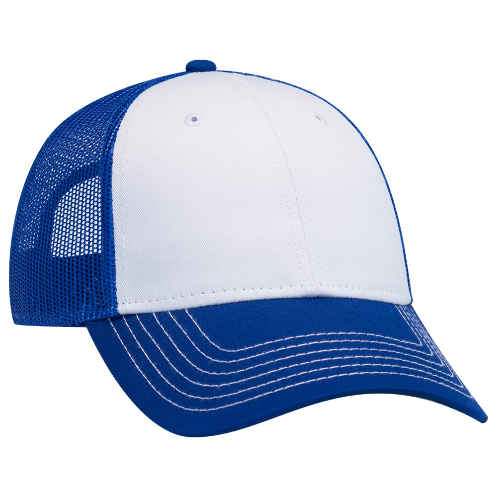 Ottocap 83-1239 - 6-Panel Low Profile Contrast Stitch Mesh Back Cap