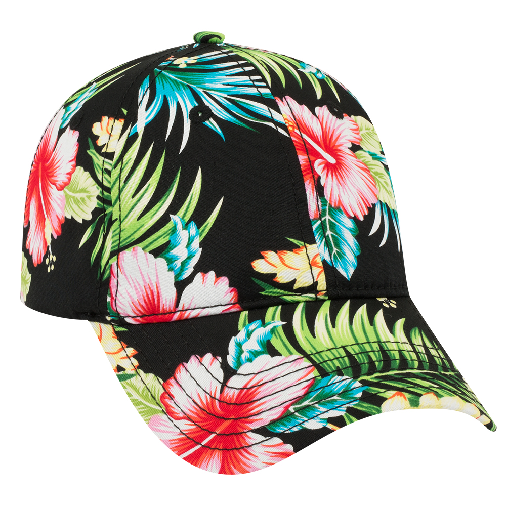 OTTOCAP 80-1213 HAWAIIAN PATTERN COTTON TWILL LOW PROFILE ...