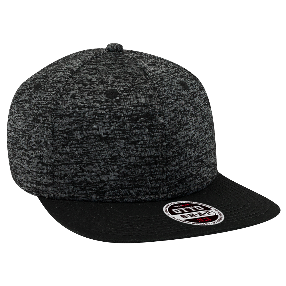 OTTOCAP 148-1218 RAYON BLEND JERSEY KNIT COTTON TWILL SQUARE FLAT VISOR 6 PANEL PRO SNAPBACK