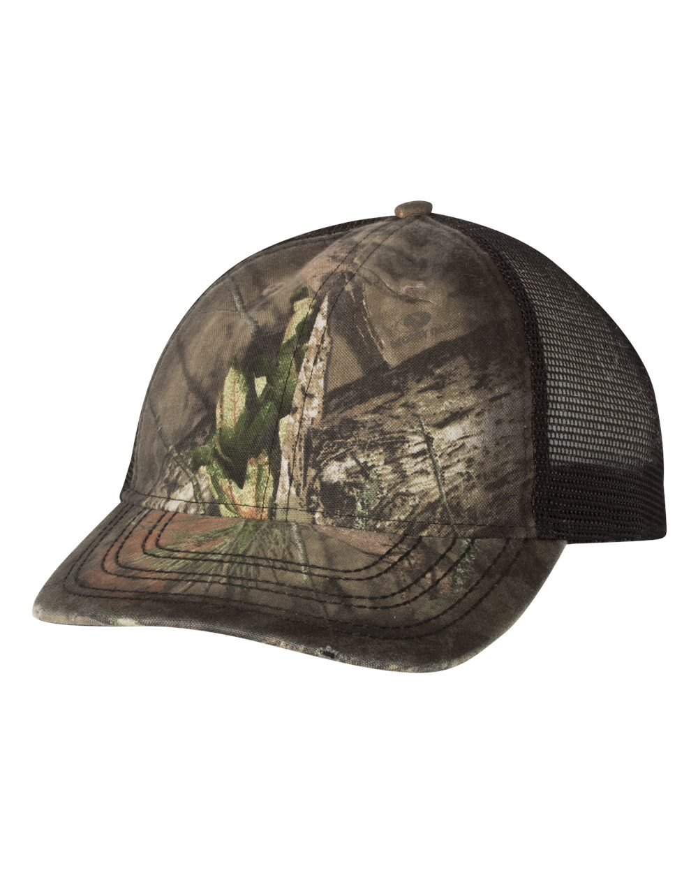 Outdoor Cap OSC100M - Oil Stained Camo Trucker Cap
