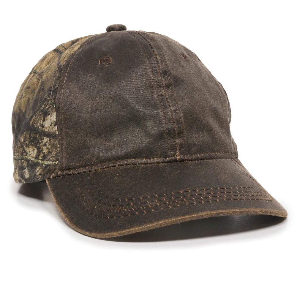 Outdoor Cap HPC-305 - Wathered Cotton with Camo Cap