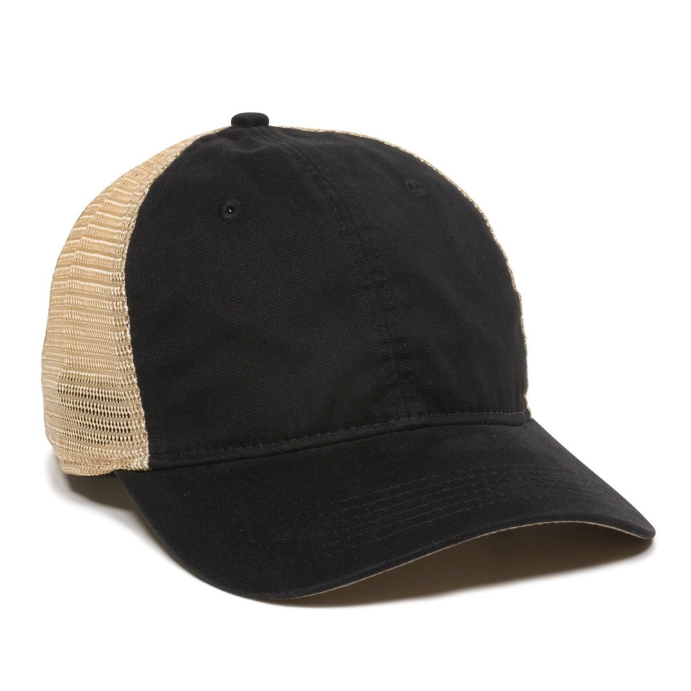Outdoor Cap PWT-200M - Premium Washed Twill with Tea Stained Mesh Back Cap