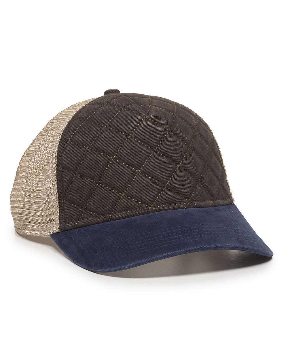 Outdoor Cap QLT100M - Quilted Front Mesh Back Cap