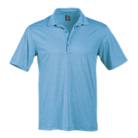 Page & Tuttle P2003 - Men's Heather Seam Detail Short Sleeve Polo