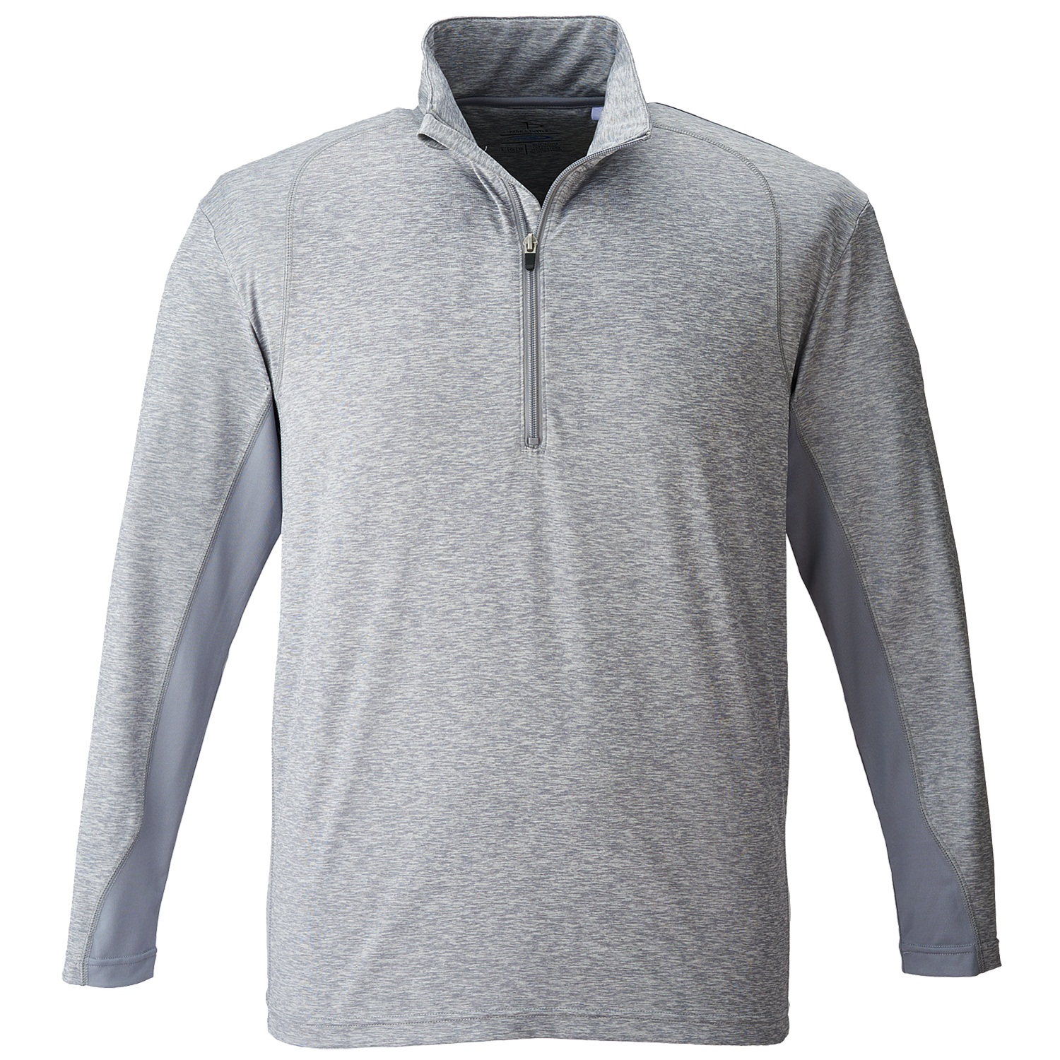 Page & Tuttle P3006 - Men's Heather Colorblock 1/4-Zip ...