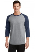 Port & Company® PC55RS - 50/50 Cotton/Poly 3/4-Sleeve ...
