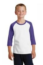 Port & Company® PC55YRS - Youth 50/50 Cotton/Poly 3/4-Sleeve Raglan T-Shirt