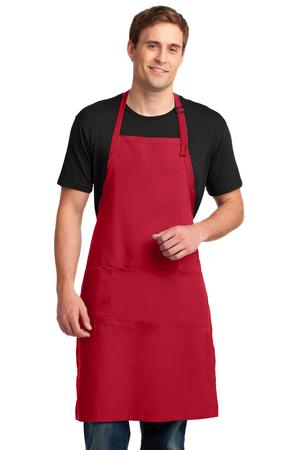 Port Authority A700 Easy Care Extra Long Bib Apron with ...