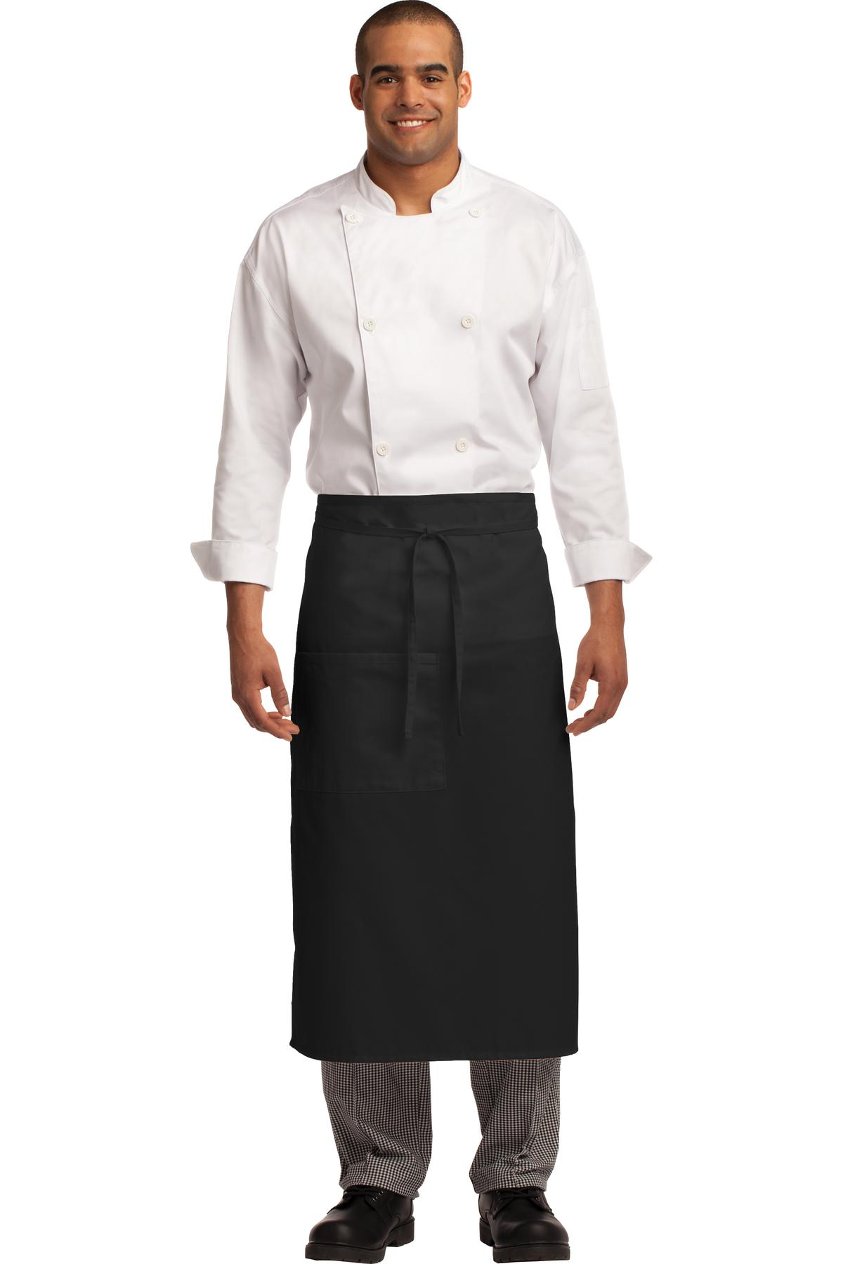 White housekeeping apron