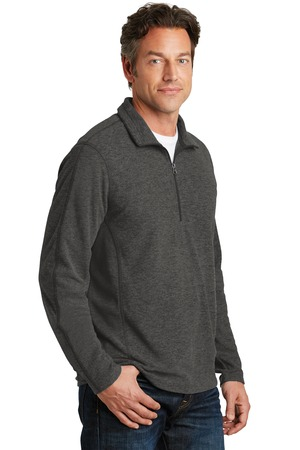 Port Authority® F234-Heather Microfleece Half Zip ...