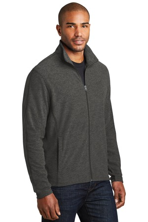 Port Authority® F235-Heather Microfleece Full-Zip Jacket
