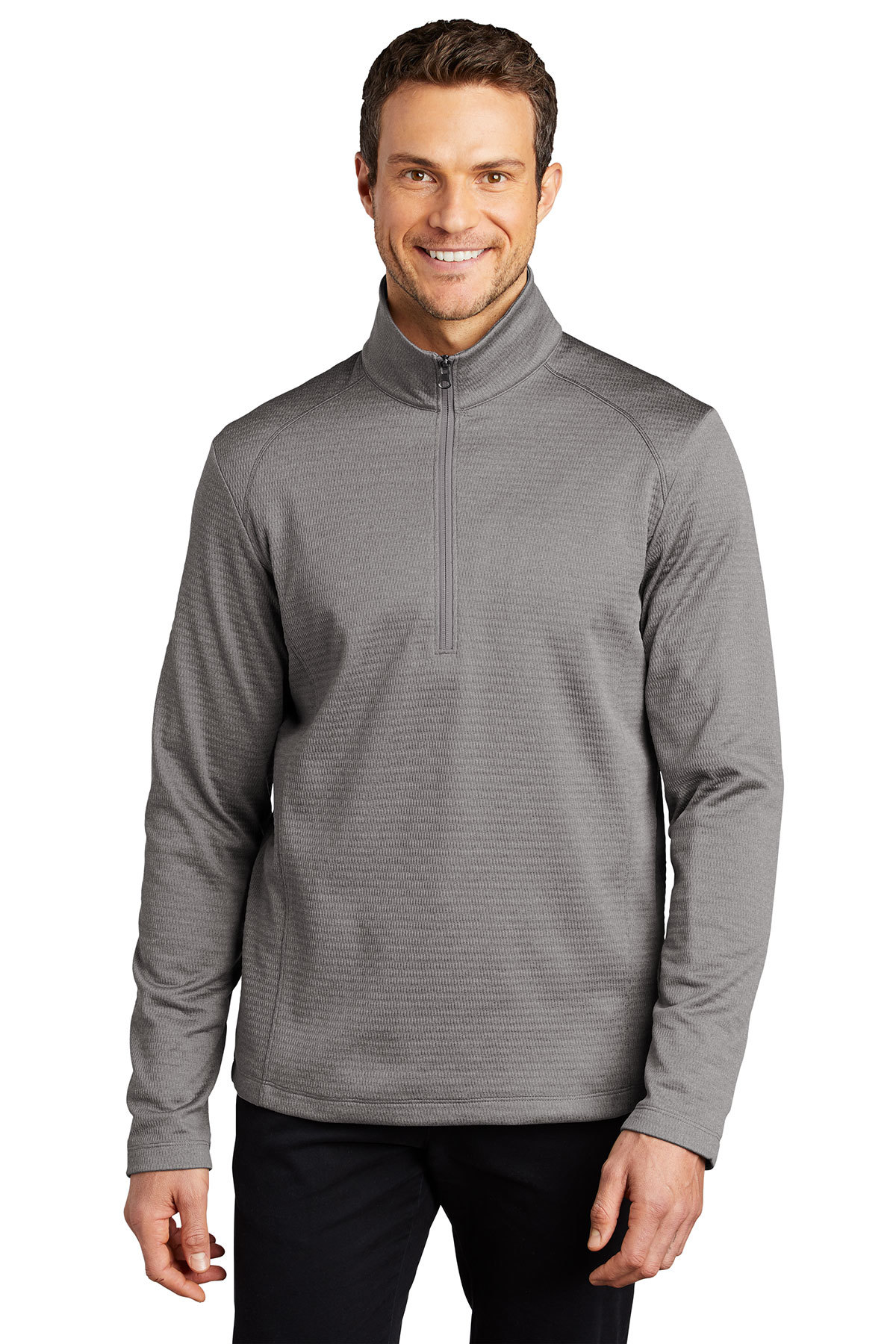 Port Authority F248 - Diamond Heather Fleece 1/4-Zip Pullover