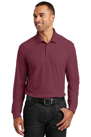 Port Authority K100LS - Long Sleeve Core Classic Pique Polo