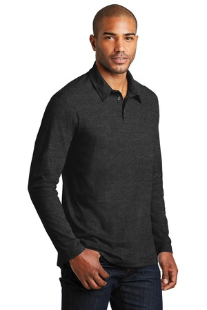 Port Authority® K577LS-Long Sleeve Meridian Cotton ...