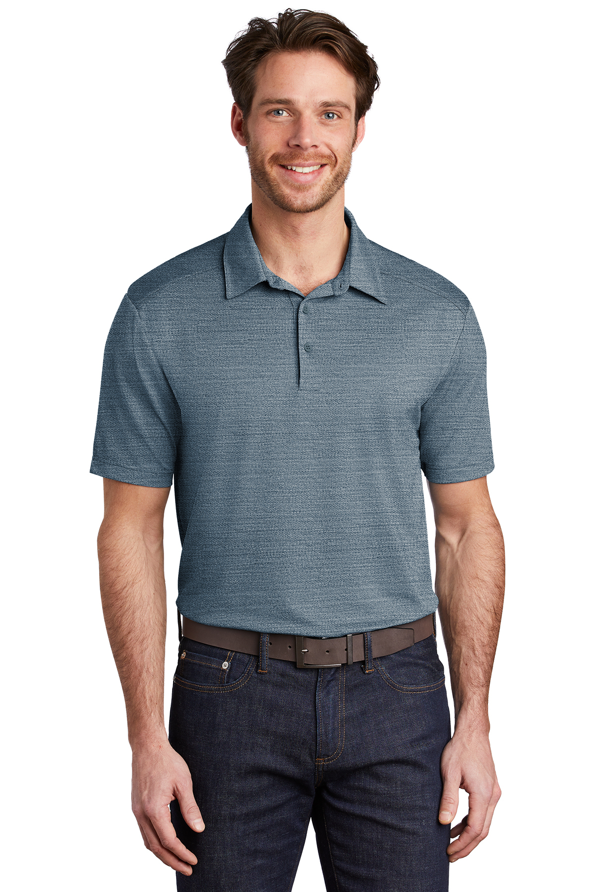 Port Authority K583 - Stretch Heather Polo