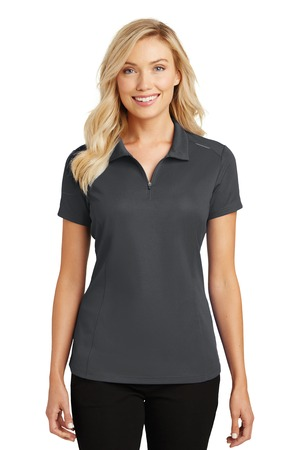 Port Authority L580 - Ladies Pinpoint Mesh Zip Polo
