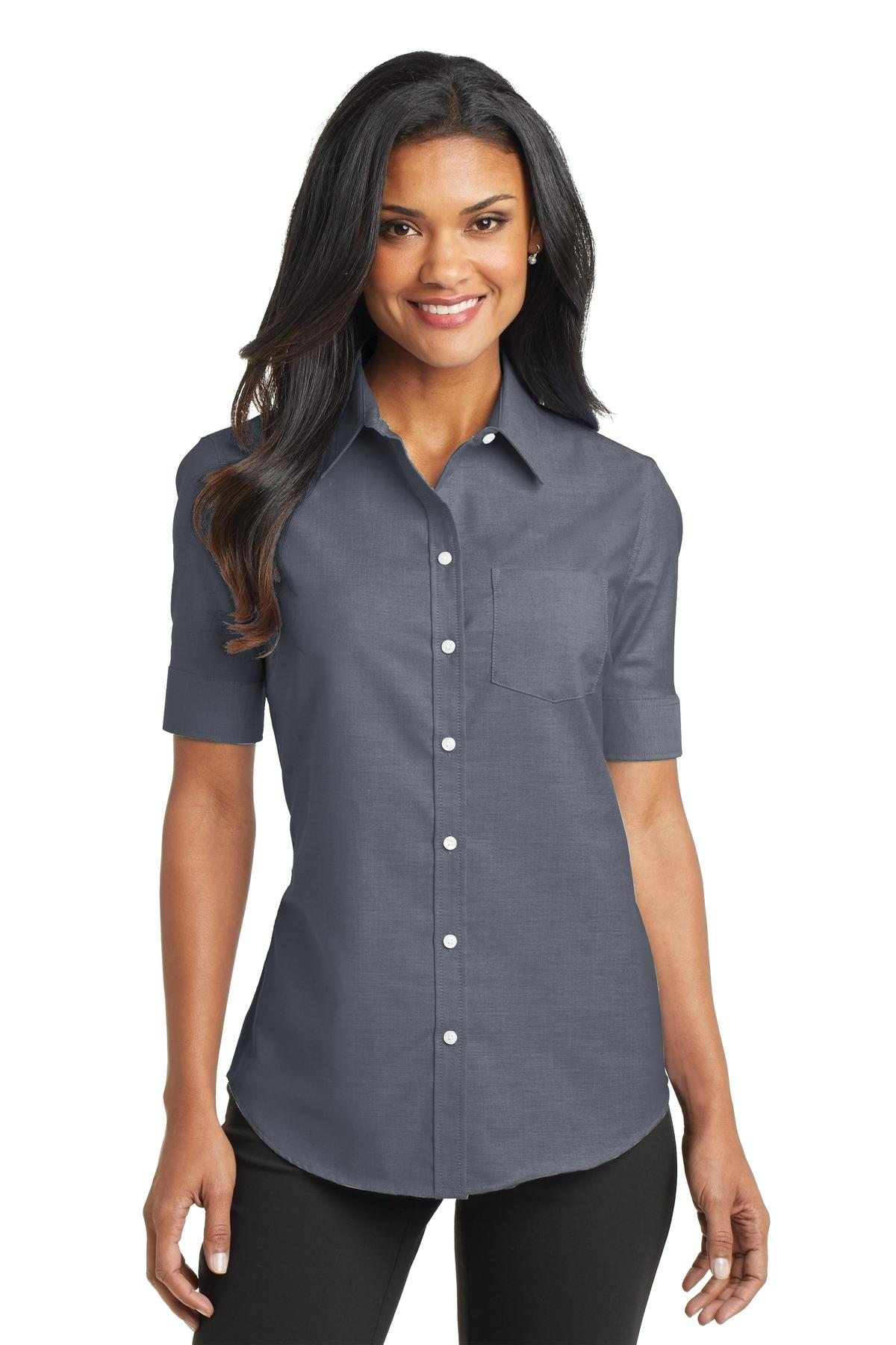 Port Authority® L659 - Ladies Short Sleeve SuperPro ...