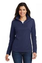 Port Authority® L806 - Ladies Pinpoint Mesh 1/2-Zip