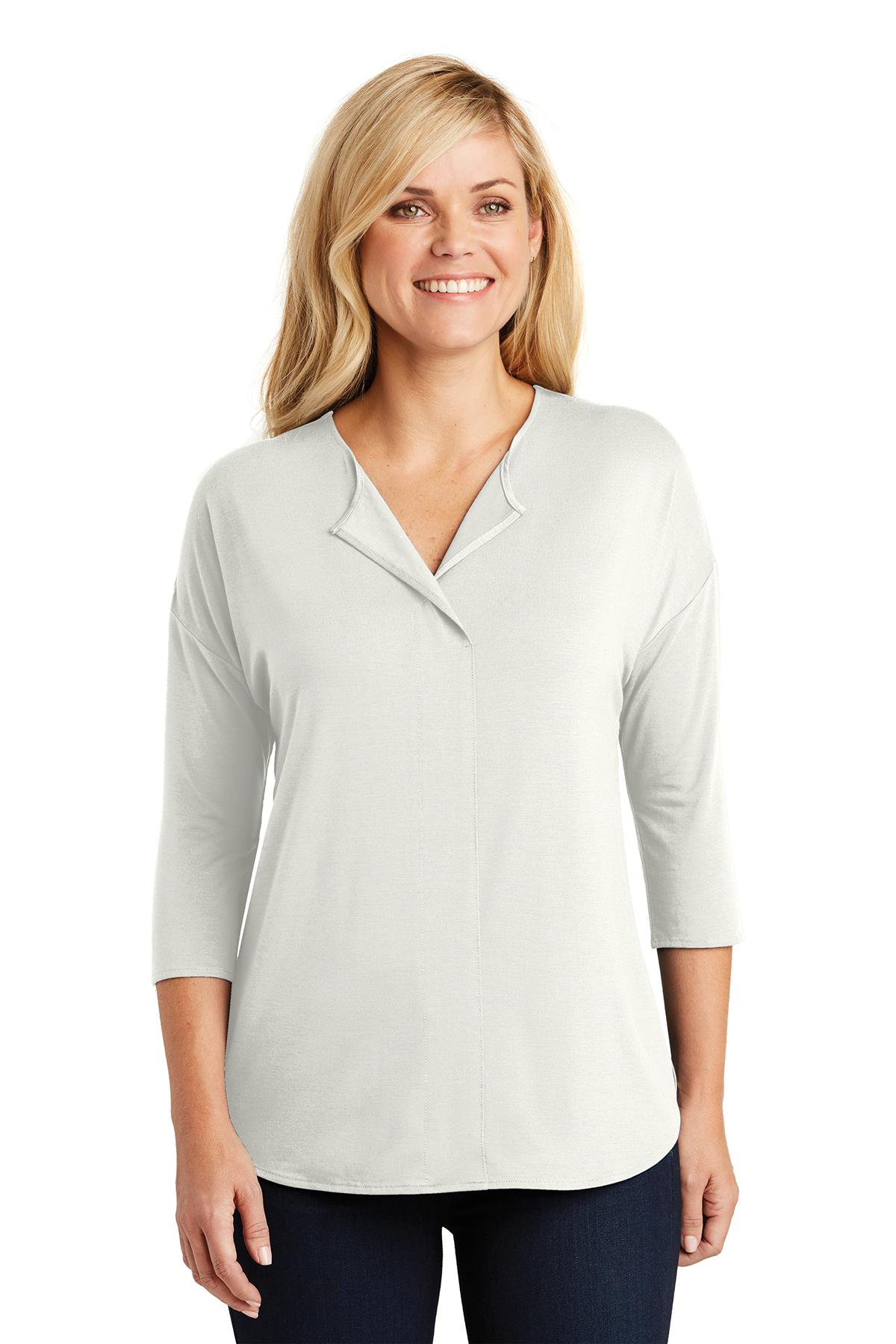 Port Authority LK5433 - Ladies Concept 3/4-Sleeve Soft Split Neck Top
