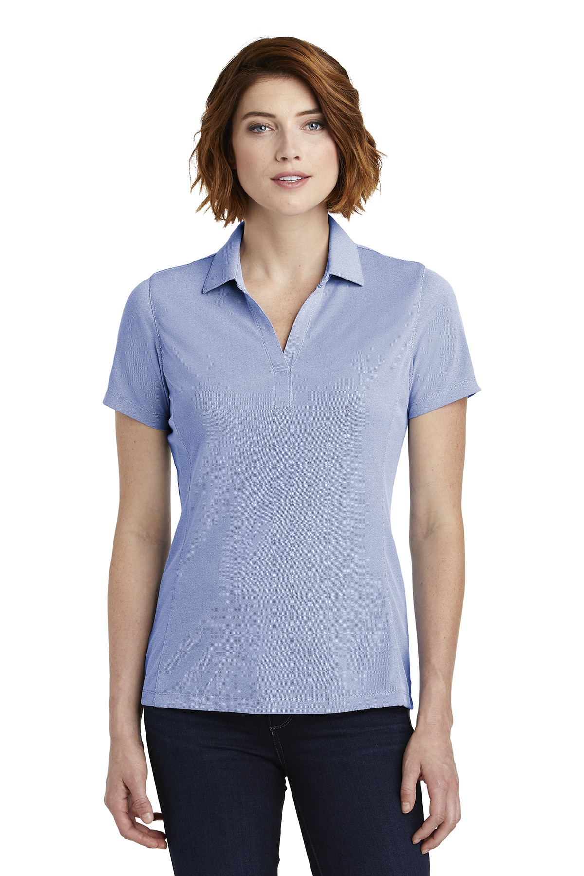 Port Authority LK582 - Ladies Poly Oxford Pique Polo