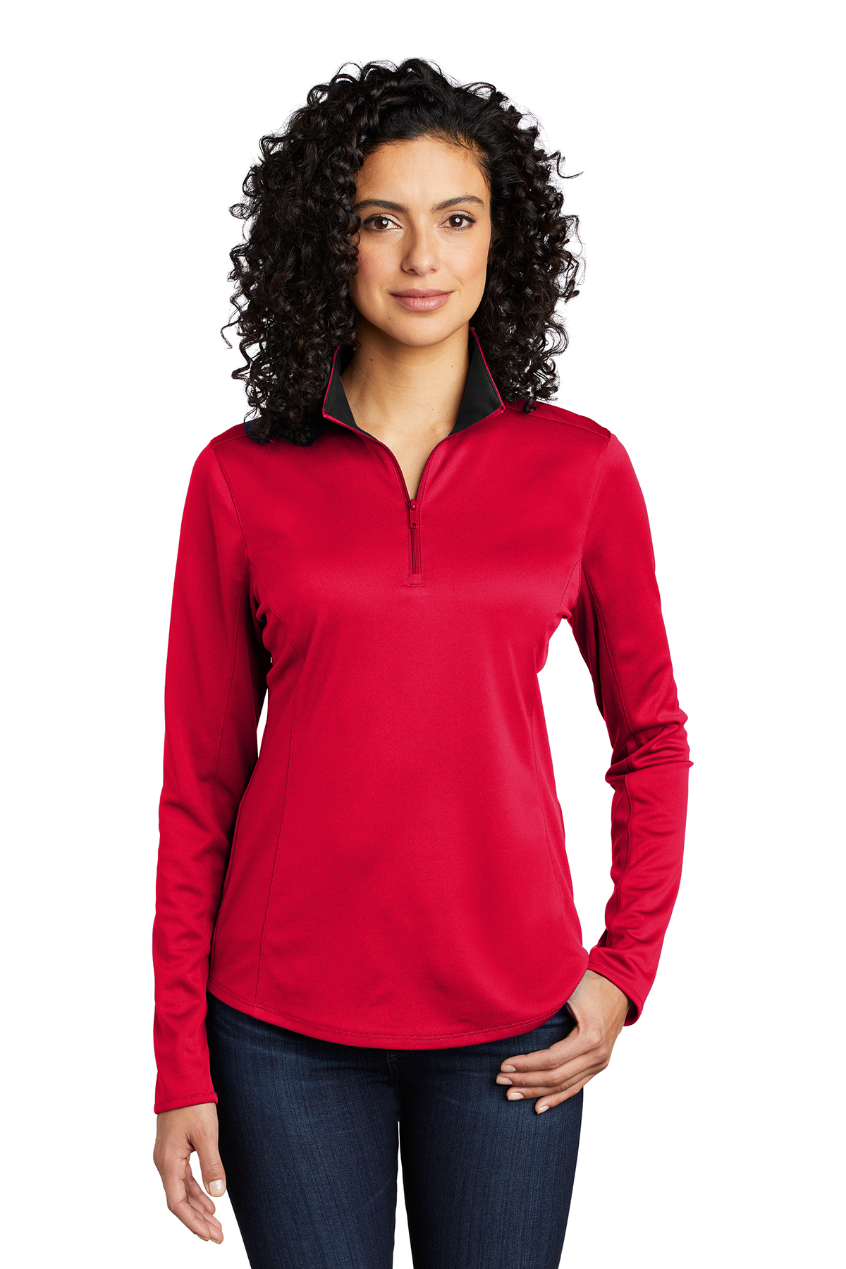 Port Authority LK584 - Ladies Silk Touch Performance 1/4-Zip