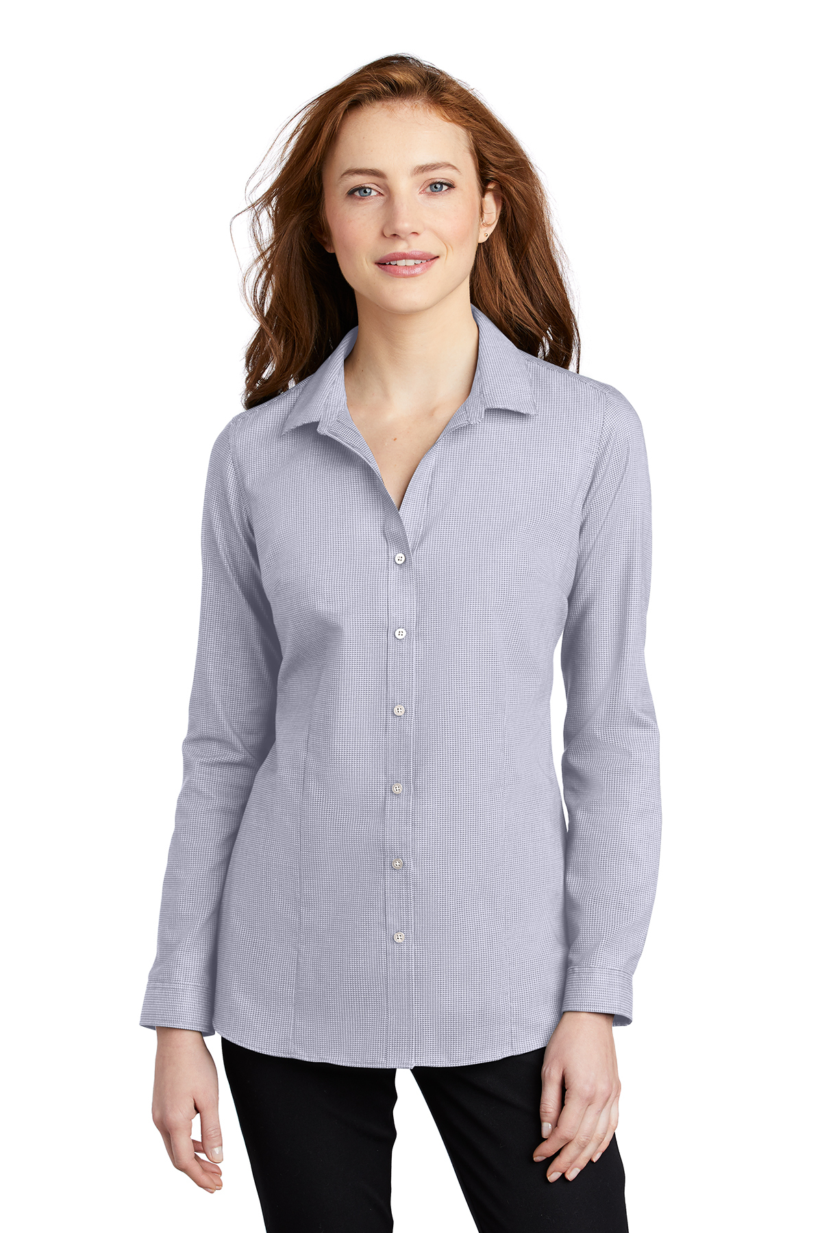 Port Authority LW645 - Ladies Pincheck Easy Care Shirt