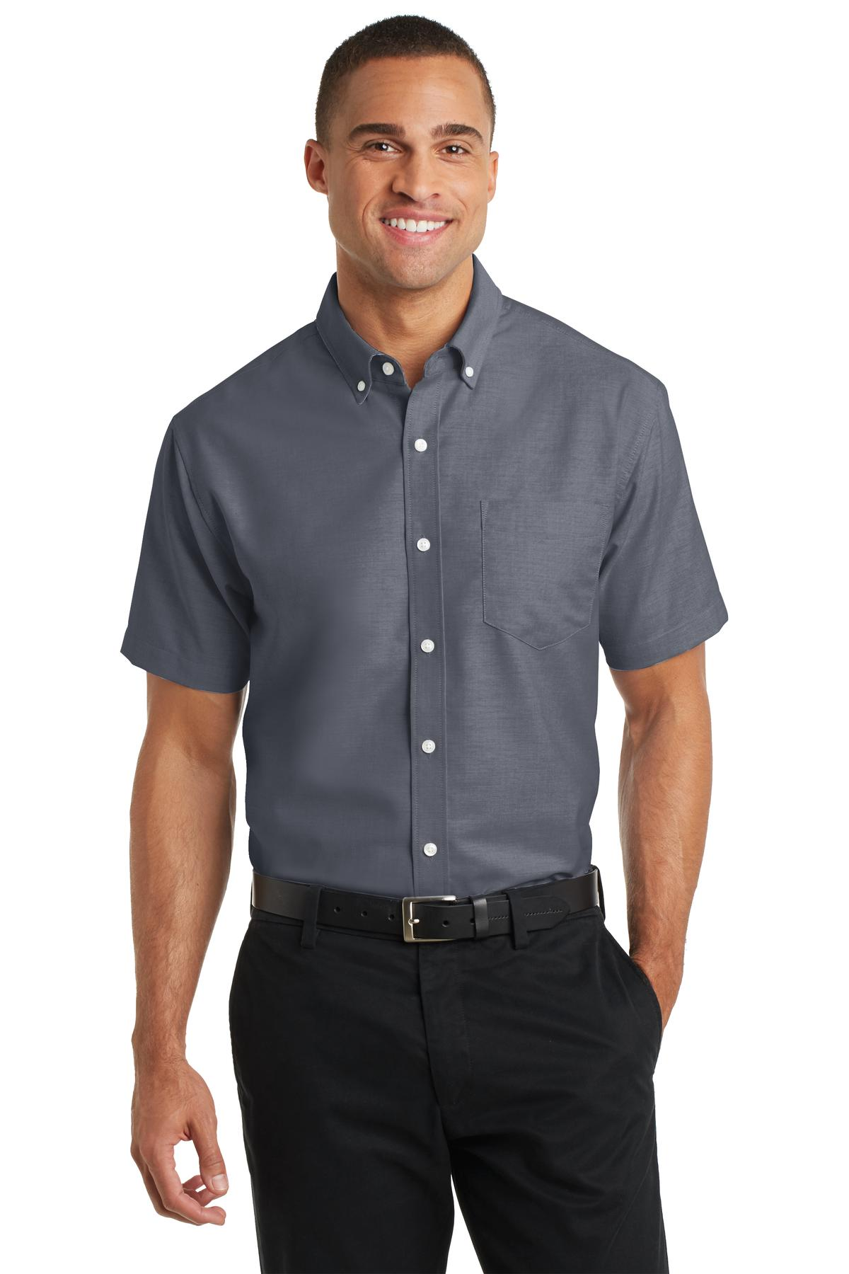 Port Authority® S659 - Short Sleeve SuperPro Oxford ...